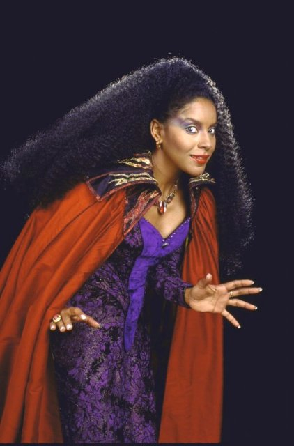 "Actress Phylicia Rashad in a scene from the first replacement cast of the Broadway musical ""Into the Woods""."