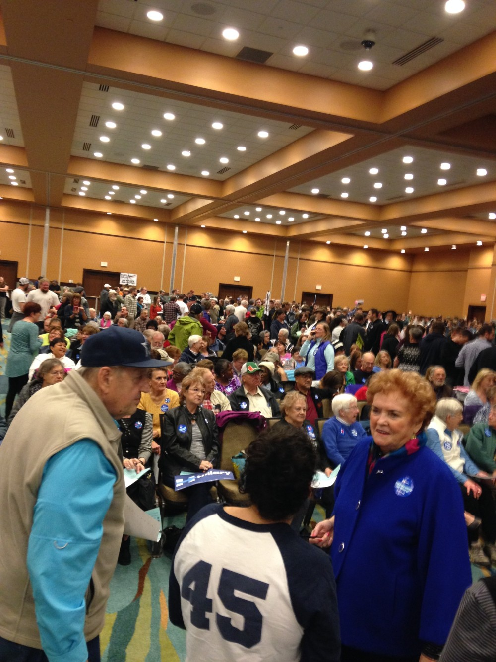 Just to give everyone an idea of how packed the caucus was. It was loud and fun and electric and it was great to see this many Democrats be passionately involved in such a Red State.