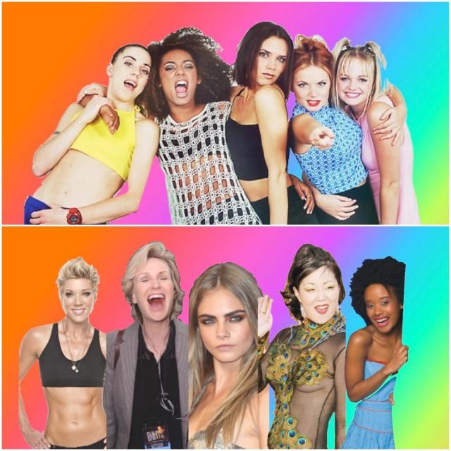 If Lesbian/Bi Celebrities Were 90s Boy/Girl Bands ...