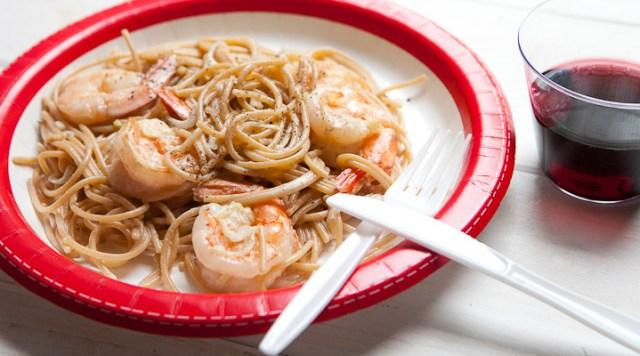 Shrimp Scampi For One