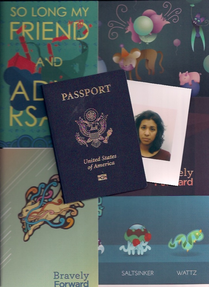 I went to Taylor Dantanavantanawong's portfolio show and fell in love with his work enough to hire him to design my book covers! The same day, I received my new passport in the mail with my sad girl foto and updated name & gender.