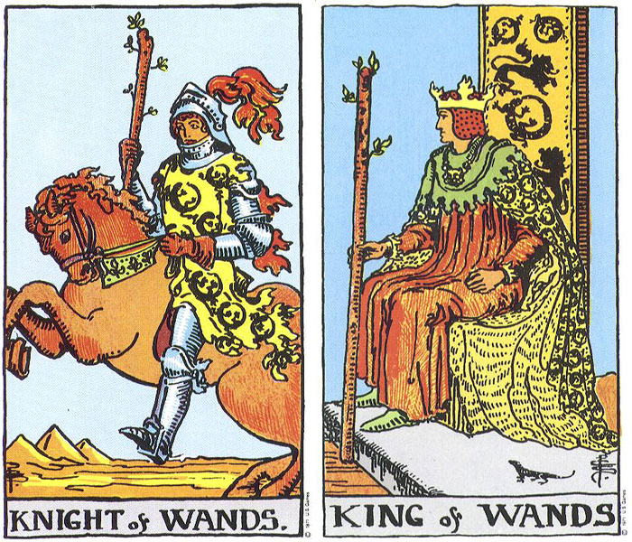 knight and king of wands