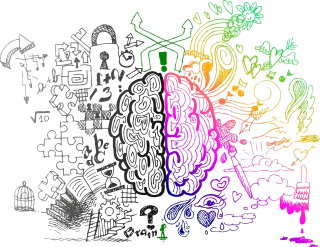 Both sides of my brain are rainbow, though. Image via Shutterstock.