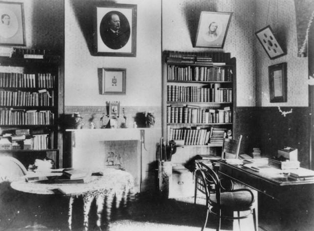 library in Queensland c. 1898 via flickr