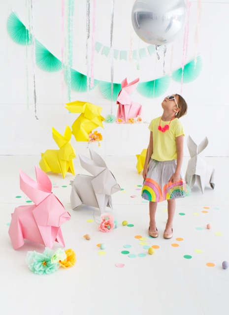 oh happy day giant origami bunny