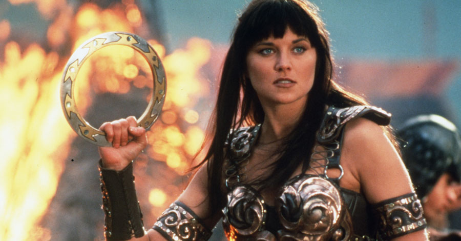 Lucy Lawless as Xena the Warrior Princess