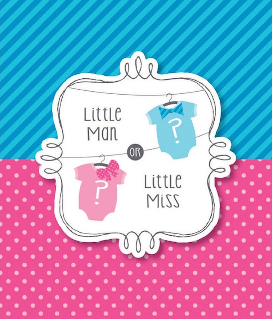 Ugh. I mean, I guess you can buy these gender reveal invites on Amazon if you really want to, if that's your thing.