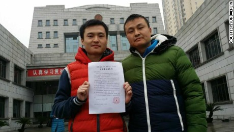 Sun Wenlin and his partner, Hu Mingliang
