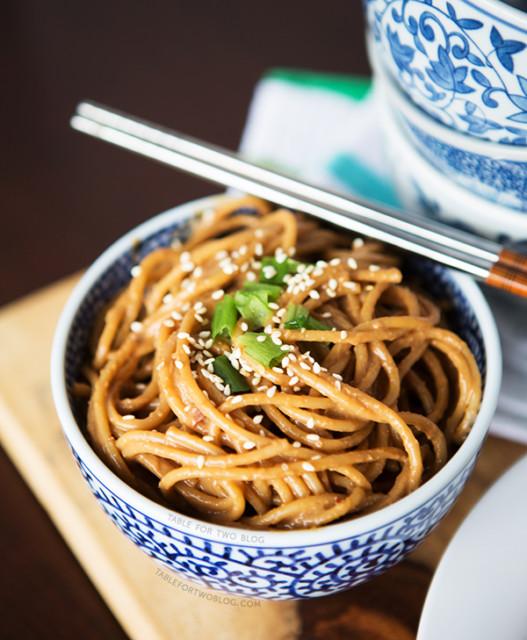 13 cold spicy peanut sesame noodles