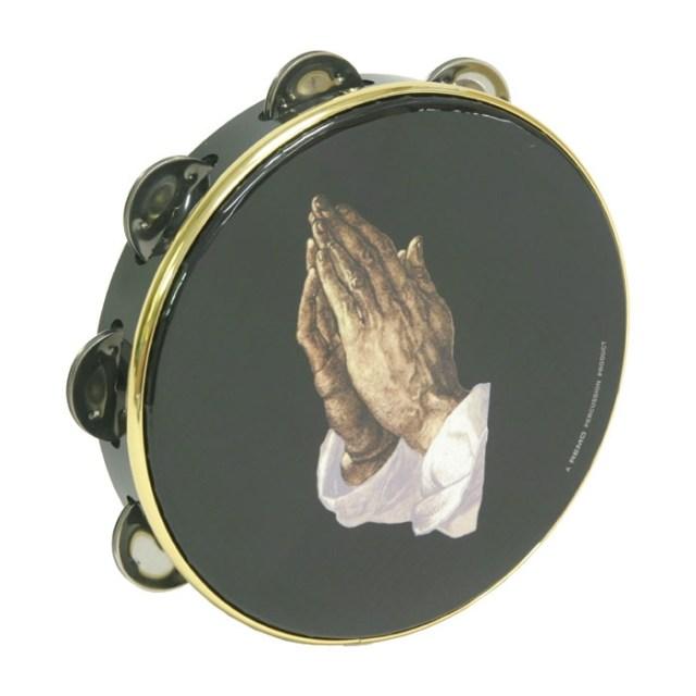 praying hands tambourine