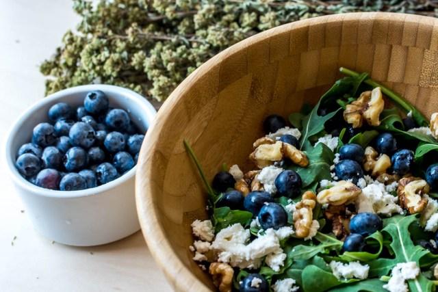 blueberry arugula