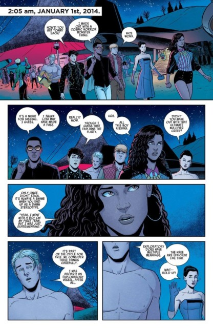 From Young Avengers written by Kieron Gillen, art by Jamie McKelvie and Matthew Wilson.