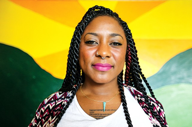 A portrait of Alicia Garza, co-founder of Black Lives Matter