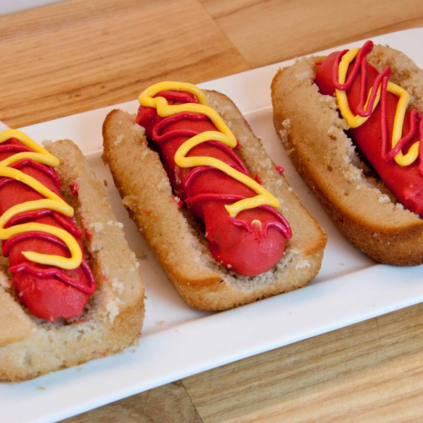 These don't really have any actual hot dogs in them, it's just cake.