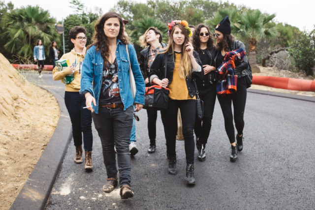 What is now an annual photo of us marching to our car during dyke day.