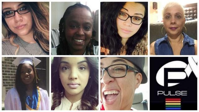 Mercedez Marisol Flores, 26. Deonka Deidra Drayton, 32. Amanda Alvear, 25. Brenda Lee Marquez McCool, 49. Akyra Murray, 18. Yilmary Rodriguez Solivan, 24. Kimberly Morris, 37. All killed in the Orlando Pulse shooting.