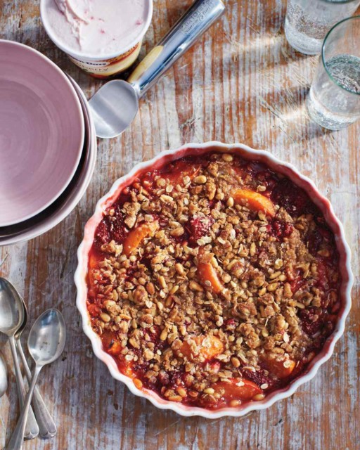 48. Strawberry and Apricot Crisp with Pine-Nut Crumble