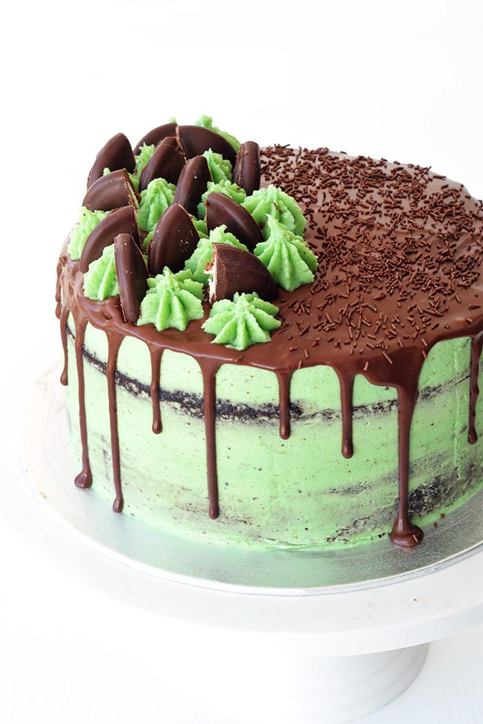Mint Chocolate Layer Cake