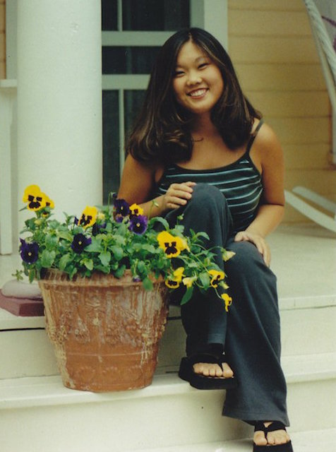 16-year-old me, totally gorgeous and totally wishing I was thinner and whiter.