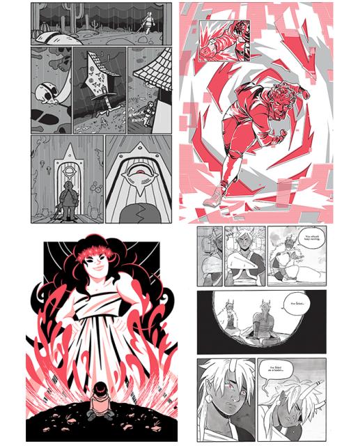 Art by Marisa Han, Mildred Louis,Melanie Ujimori & Chan Chau and Kou Chen.
