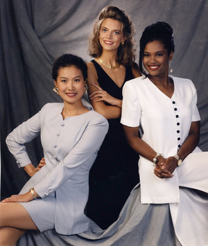 A multi-racial Shirley card from the 1990s. Notice that even the women of color aren't very dark.