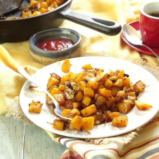 Butternut Squash Home Fries via Connoisseurus Veg