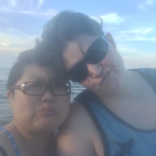 Saddest out-of-focus beach selfie self-pitying fun time.