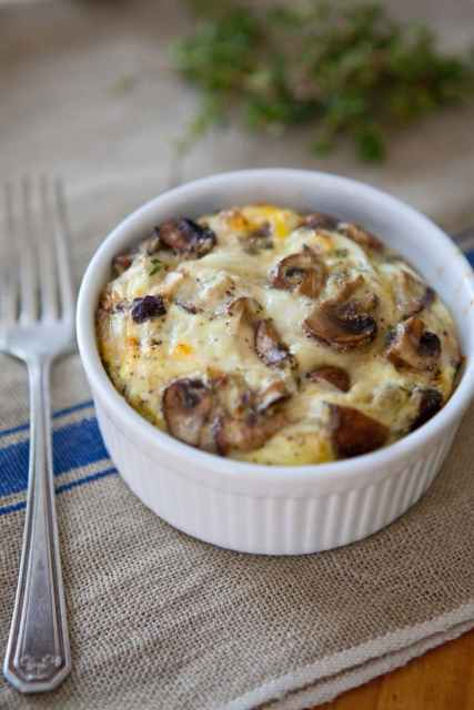 Mixed Mushroom Egg Bakes via The Kitchn