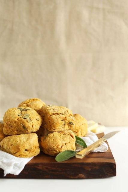 Pumpkin Sage Biscuits via Minimalist Baker