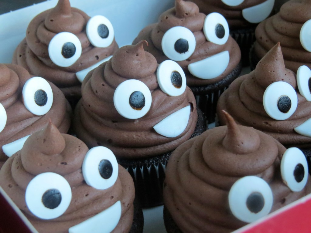 Poop Emoji Cupcakes Via Bennys Baker