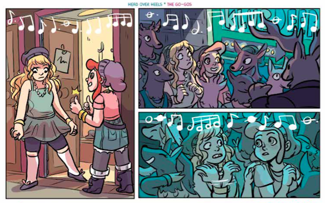 Lumberjanes at Klub Deer by Shannon Watters and Casey Pietsch in the Boom!Box 2015 Mixtape