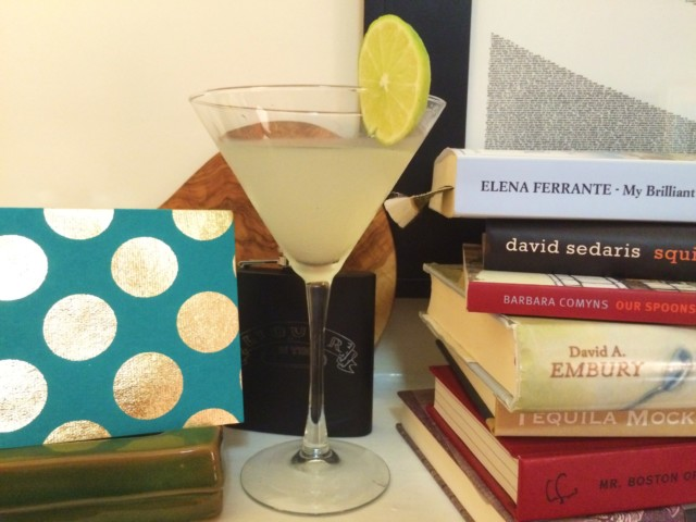 That's a card from my sister next to my daiquiri!