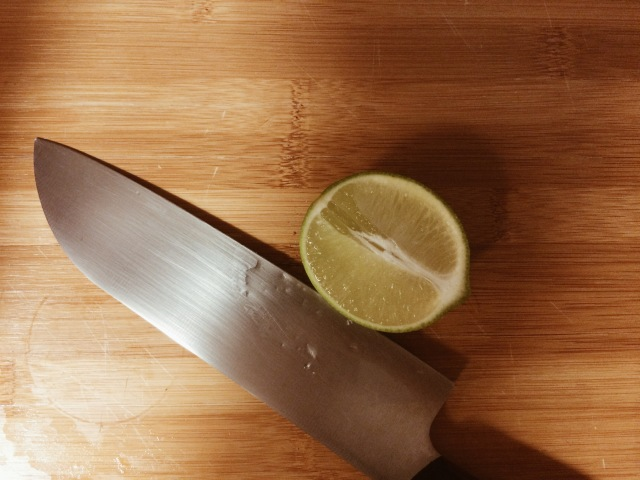 Cut limes length-wise!