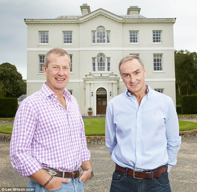 Lord Ivar Mountbatten, left, with boyfriend James Coyle, right