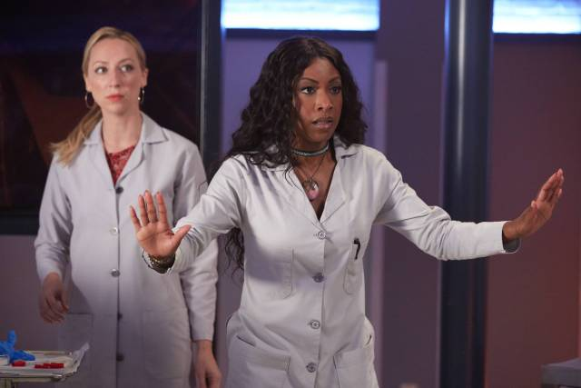 """ROSEWOOD: Pictured L-R: Anna Konkle and Gabrielle Dennis in the """"Eddie and the Empire State of Mind"""" episode of ROSEWOOD airing Thursday, Sept. (8:00-8:59 PM ET/PT) on FOX. ©2016 Broadcasting Co. CR: Tyler Golden/FOX"""