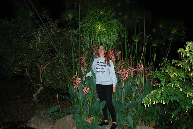 One of Sarah's iconic sweatshirts