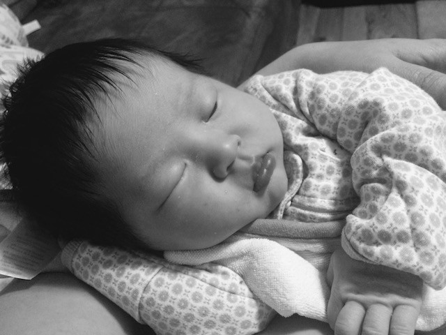FINALLY asleep, taken a week ago in the height of a fussy evening