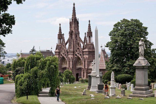 Green-wood cemetery via NYTimes.