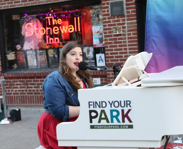 NEW YORK, NY - OCTOBER 24: Mary Lambert performs at Stonewall National Monument on October 24, 2016 in New York City. (Photo by Rob Kim/Getty Images)