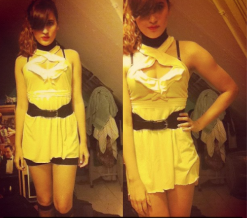 I whipped up this Sally Jupiter costume in approx two hours. Also, SORRY FOR THE HORRIBLE FILTERS. THE YEAR WAS 2012 AND I LIVED IN A POORLY LIT ATTIC