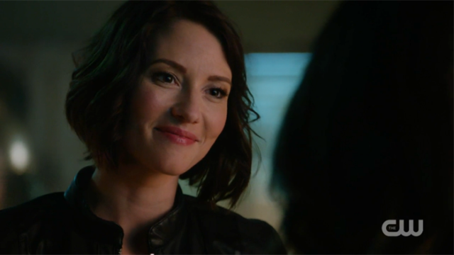 Alex forced a smile for Maggie.