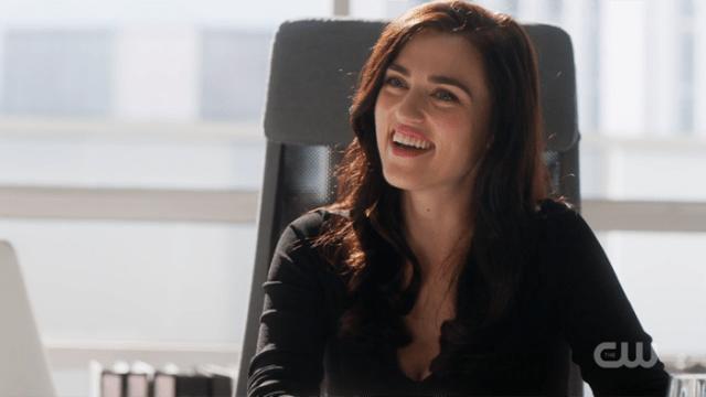 Lena Luthor smiling brightly