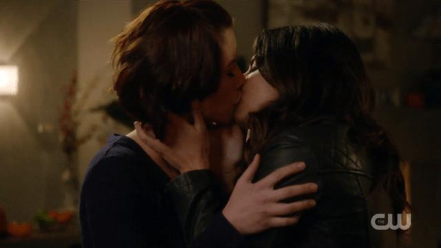 Maggie kisses Alex.