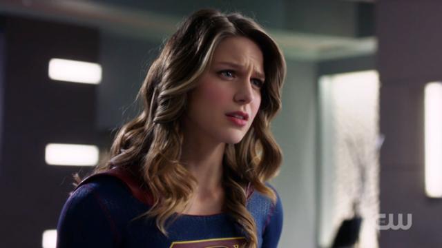 Kara furrows her brow at Lena.