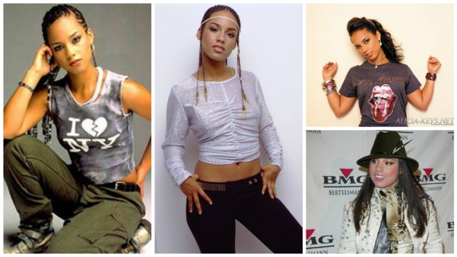 These are just a few of the many queer lady fashion statements Alicia made in the early 2000s.
