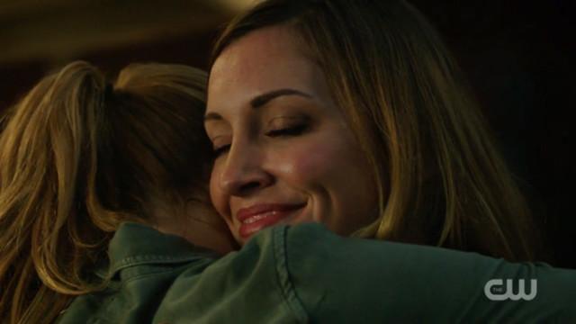 Laurel hugs Sara
