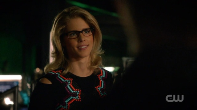 Felicity with her hair down