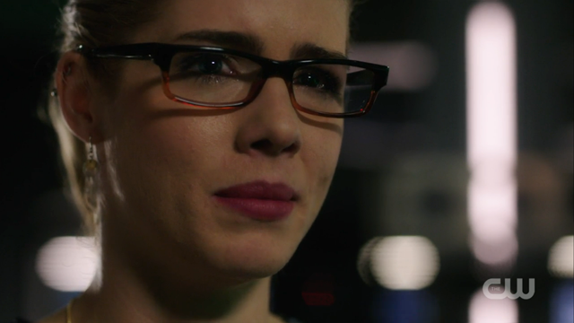 Felicity looks so sad.
