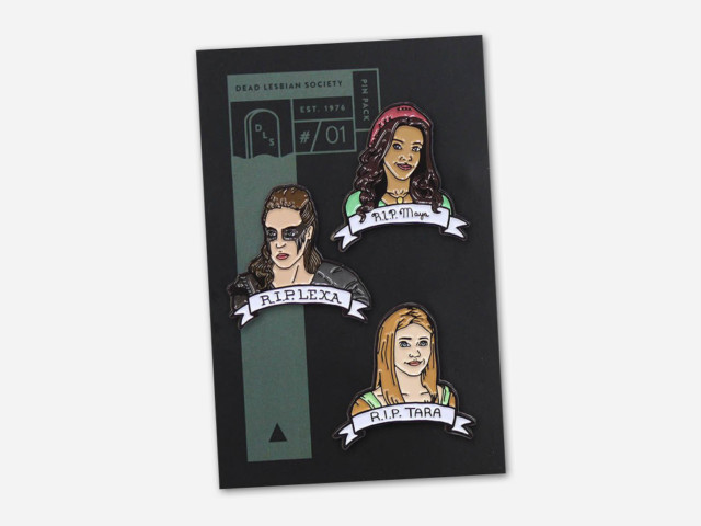 Dead Lesbian Society Pin Pack #01 : Maya, Lexa and Tara