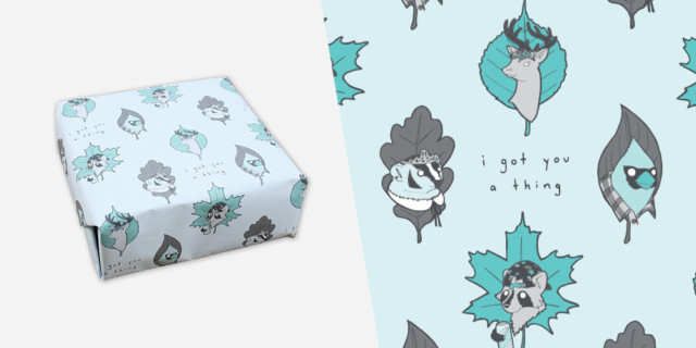 Queer Woodlands Wrapping Paper